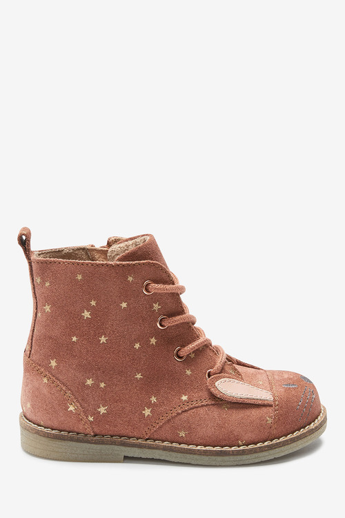 Next Leather Lace-Up Bunny Boots (Younger)