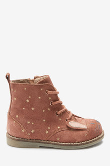 Next Leather Lace-Up Bunny Boots (Younger) - 266335