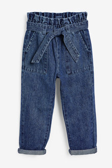 Next Paperbag Waist Tie Jeans (3-16yrs) - 266364