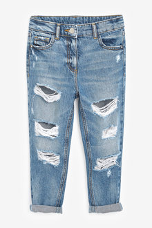 Next Distressed Mom Jeans (3-16yrs) - 266368