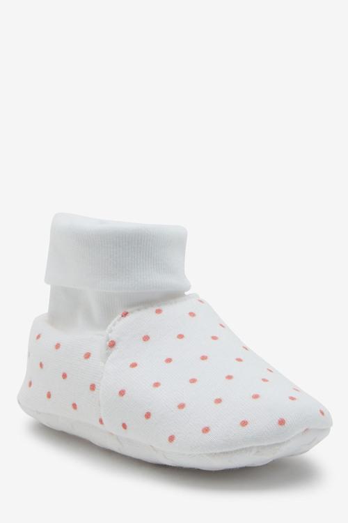Next 2 Pack Cotton Rich Pram Booties (0-18mths)