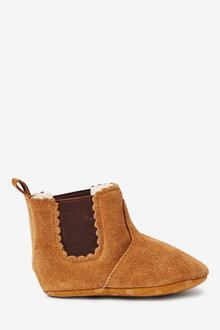 Next Leather Chelsea Pram Boots (0-18mths) - 266398