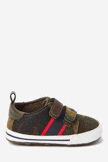 Next Double Strap Camo Pram Shoes (0-24mths) - 266439