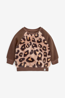 Next Animal Faux Fur Sweatshirt (3mths-7yrs) - 266449