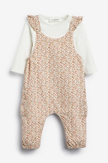 Next Ditsy Dungarees (0mths-2yrs) - 266464