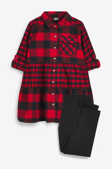 Next Shirt Dress And Leggings Set (3-16yrs) - 266485