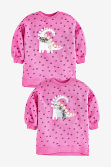 Next Dinosaur Sequin Longline Sweatshirt (9mths-8yrs) - 266486