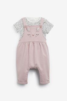 Next Character Dungarees And Bodysuit Set (0mths-2yrs) - 266489