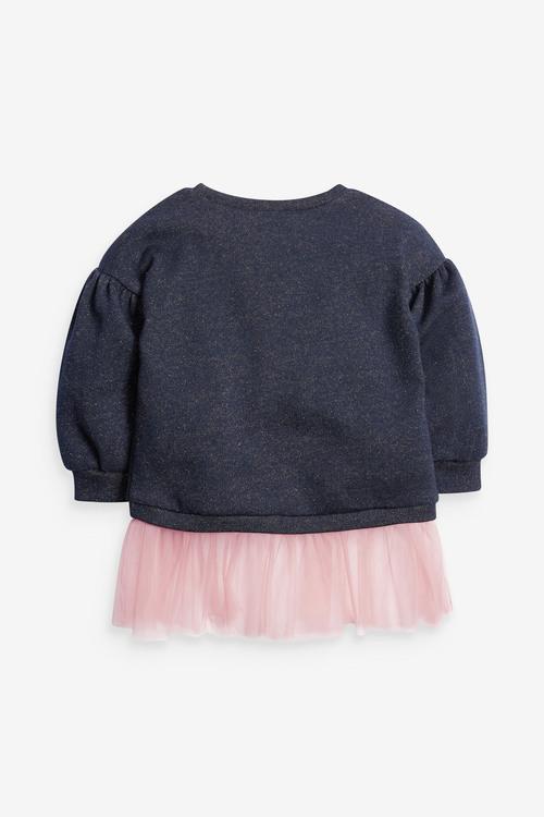 Next Sparkle Mesh Hem Sweatshirt (3mths-7yrs)