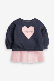 Next Sparkle Mesh Hem Sweatshirt (3mths-7yrs) - 266490