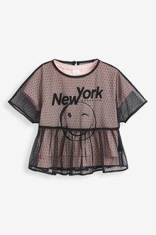 Next Spot Mesh Top and T-Shirt Set (3-16yrs) - 266498
