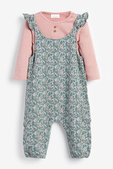 Next Ditsy Dungarees And Bodysuit (0mths-3yrs) - 266506