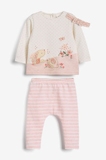 Next Bunny T-Shirt, Leggings And Headband Set (0mths-3yrs) - 266510