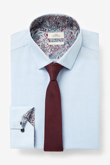 Next Paisley Trimmed Shirt And Tie - 266511