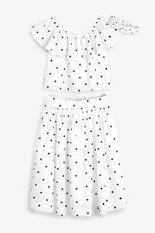 Next Co-ord Top/Skirt/Headband Set (3-16yrs) - 266518