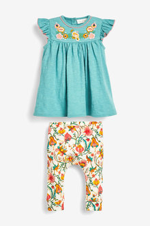 Next Floral Embroidery Top And Legging Set (0mths-2yrs) - 266519