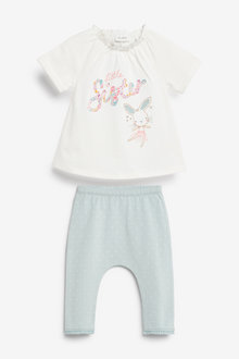 Next Sister Slogan Top And Leggings Set (0mths-3yrs) - 266521