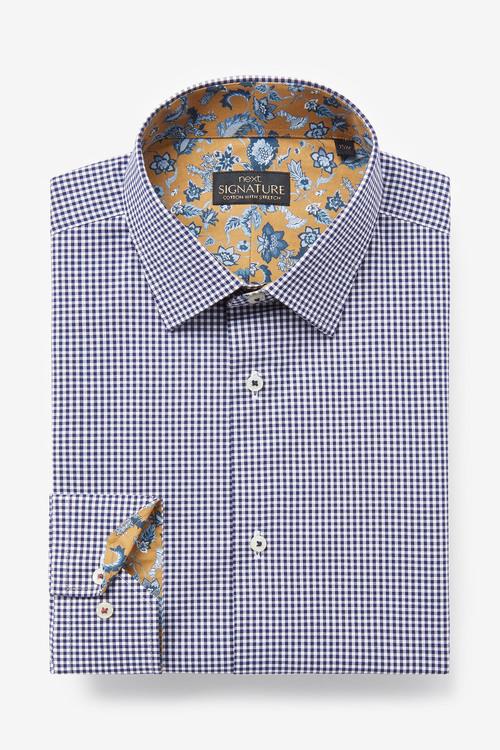 Next Signature Gingham Trimmed Shirt