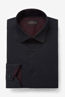 Next Signature Jacquard Trimmed Shirt - 266540