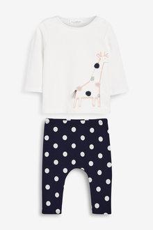 Next Giraffe T-Shirt And Leggings Set (0mths-2yrs) - 266546