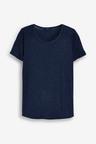 Next Cut Metallic Scoop T-Shirt