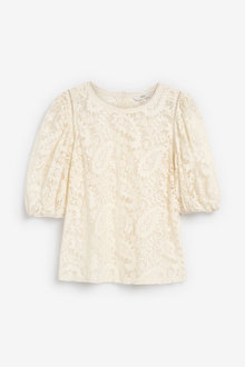 Next Lace Puff Sleeve Top - 266554