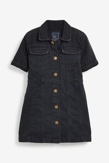 Next Fitted Denim Dress (3-16yrs) - 266560