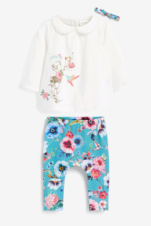 Next 3 Piece Floral Set (0mths-2yrs) - 266566