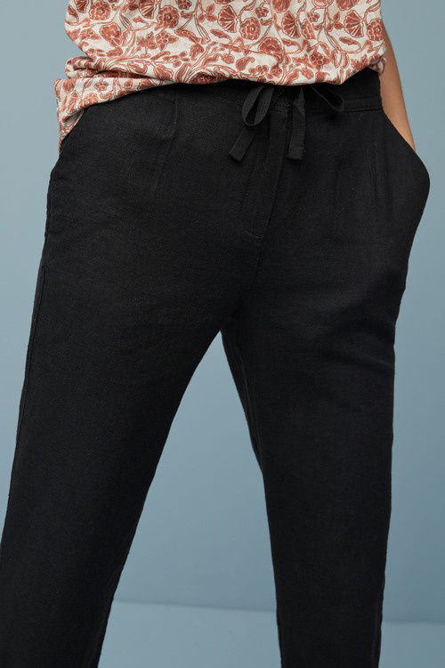 Next Linen Blend Tapered Trousers
