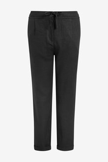 Next Linen Blend Tapered Trousers - 266570