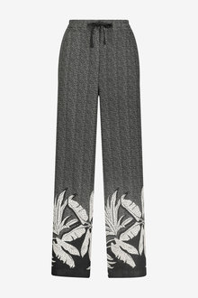 Next Linen Blend Wide Leg Trousers - 266575