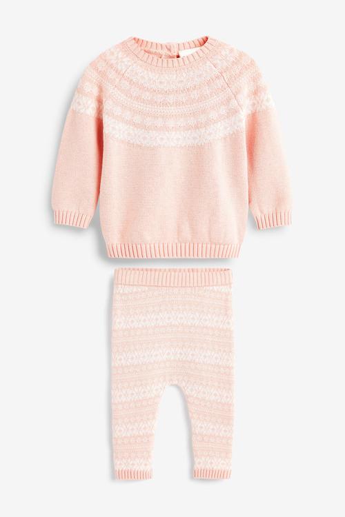 Next Knitted Fairisle Pattern Jumper Set (0mths-2yrs)
