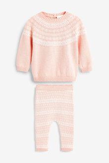 Next Knitted Fairisle Pattern Jumper Set (0mths-2yrs) - 266576