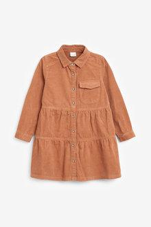 Next Tiered Cord Shirt Dress (3-16yrs) - 266580