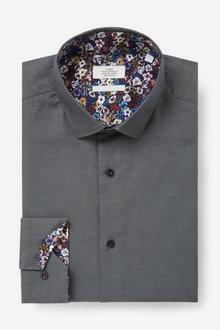 Next Trimmed Detail Shirt-Regular Fit Single Cuff - 266585