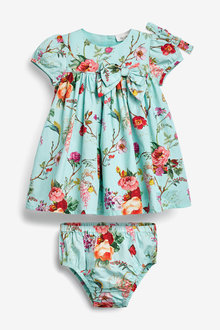 Next Floral Prom Dress With Knickers And Headband (0mths-2yrs) - 266586