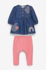 Next Applique Dress And Stripe Leggings Set (0mths-2yrs)