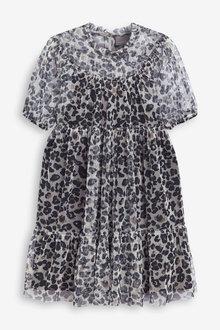 Next Printed Mesh Dress (3-16yrs) - 266599