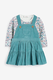 Next Cord Pinafore Dress And Floral Jersey Bodysuit (0mths-2yrs) - 266606