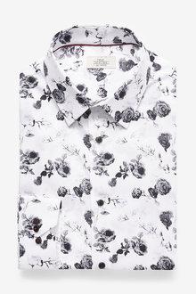 Next Slim Fit Floral Shirt - 266608
