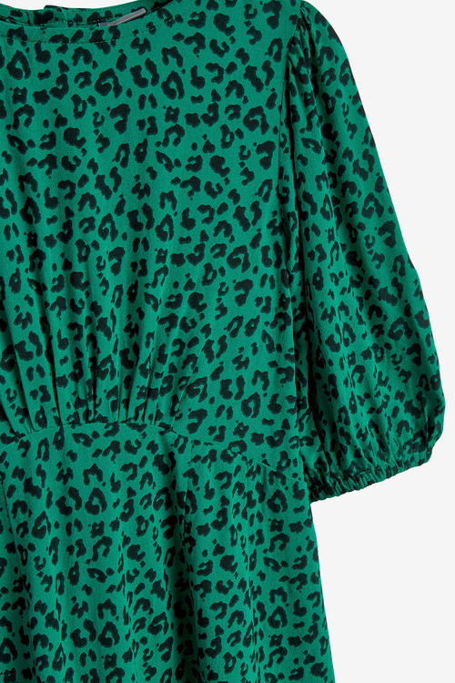 Next Printed Puff Sleeve Dress (3-16yrs)