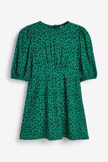 Next Printed Puff Sleeve Dress (3-16yrs) - 266610