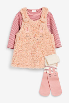 Next Character Borg Pinafore Dress, Bodysuit And Tights Set (0mths-2yrs) - 266618
