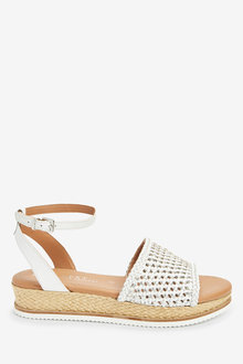 Next Forever Comfort Weave Flatform Sandals-Regular - 266632