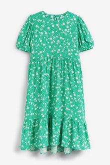 Next Printed Puff Sleeve Maxi Dress (3-16yrs) - 266638