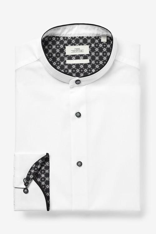 Next Grandad Contrast Collar Shirt