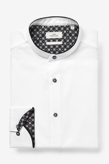 Next Grandad Contrast Collar Shirt - 266651