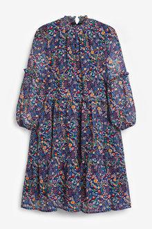 Next Floral Tiered Chiffon Maxi Dress (3-16yrs) - 266652