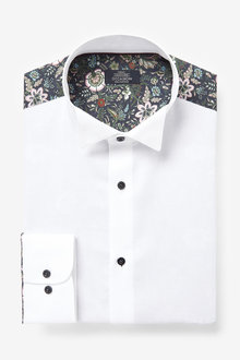 Next Printed Occasion Wing Collar Shirt - 266654