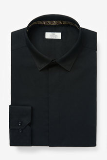 Next Concealed Placket Shirt With Trim Detail - 266662